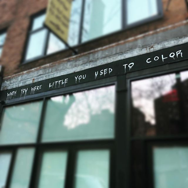 When you were little you used to color. #Chelsea #NYC You don't need to be starving to be an #Artist