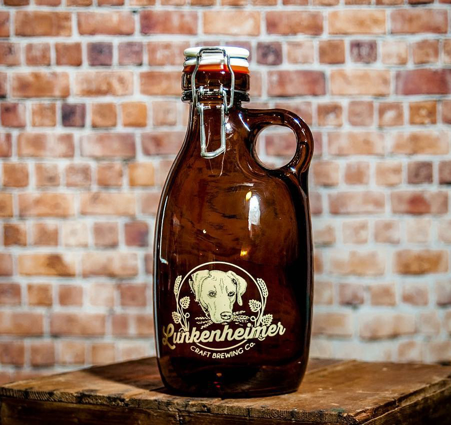 Take home some Exit 40 Pale Ale or 2018 Barley Wine in a new Orange Vessel Glass Growler (photo: Lunkenheimer Craft Brewing Co)