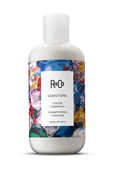 <b> GEMSTONE </b></br>Color Shampoo<br> <i> Protects and Preserves All Hair Tones</i></br> <br> <i> $24.</i></br>