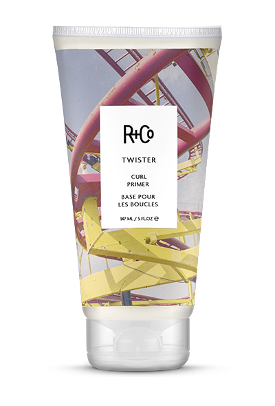 <b>TWISTER</b></br>Curl Primer</br><i>Use It As A Primer To Add Moisture And<br> Help Define Curls Without Crunch<br>$25.</i>