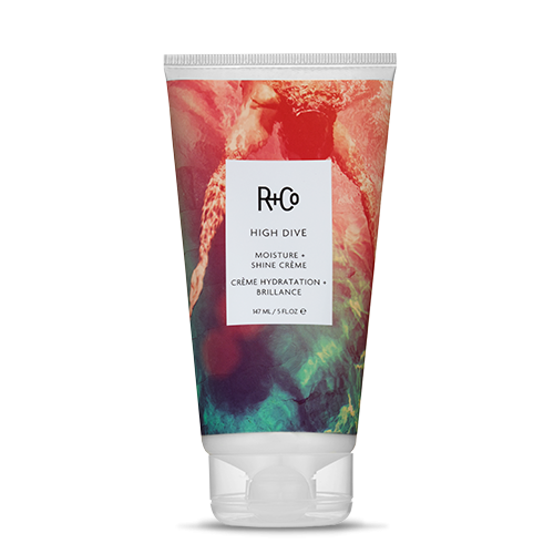 <b>HIGH DIVE</b></br> Moisture+Shine Crème</br><i>Formulated To Smooth And Seal The Hair. <br>High Dive Moisturizes, Softens, And <br>Drowns Out Frizz<br>$27.</i>