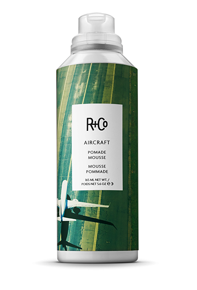 <b>AIRCRAFT</B></BR> Pomade Mousse </br><i> A Mouse With a Split Personality. <br/>Create Second Day Texture and Separation While </br>Maintaining Body</br>$29.</br></i>