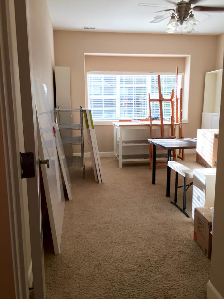 My art studio the day we moved in