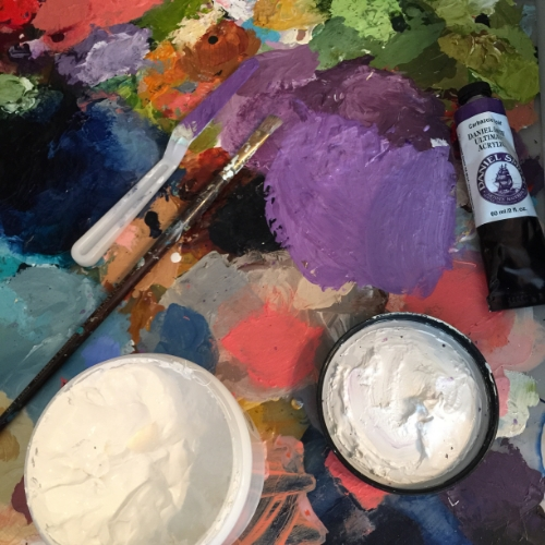 My paint palette getting some new paint added today.