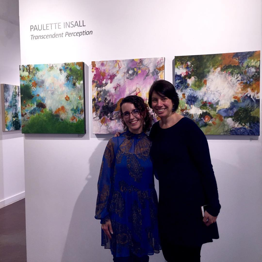 Me with gallery owner Jennifer Pepin