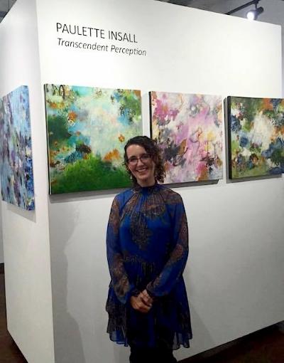 Award Winning International artist Paulette Insall at her gallery exhibition in Portland, Oregon's prestigious Pearl District.