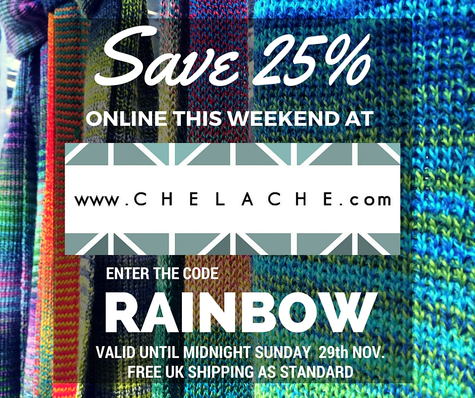 Get 25% off scarves, hats and gloves in a whole rainbow of colours with promo code RAINBOW