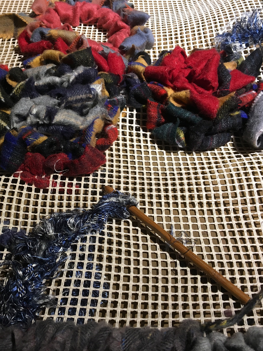 I used a large crochet hook.