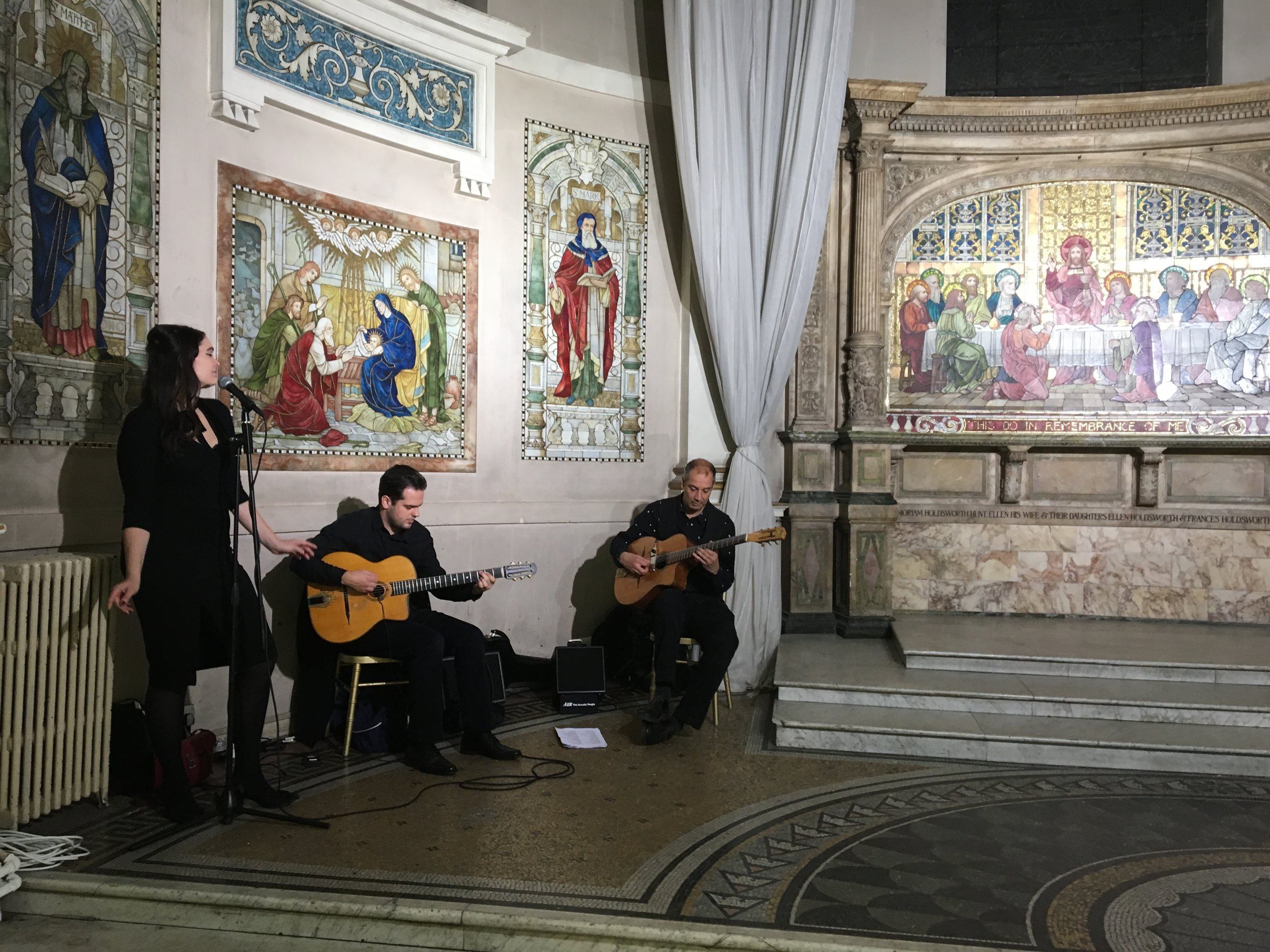 Live music at the private view
