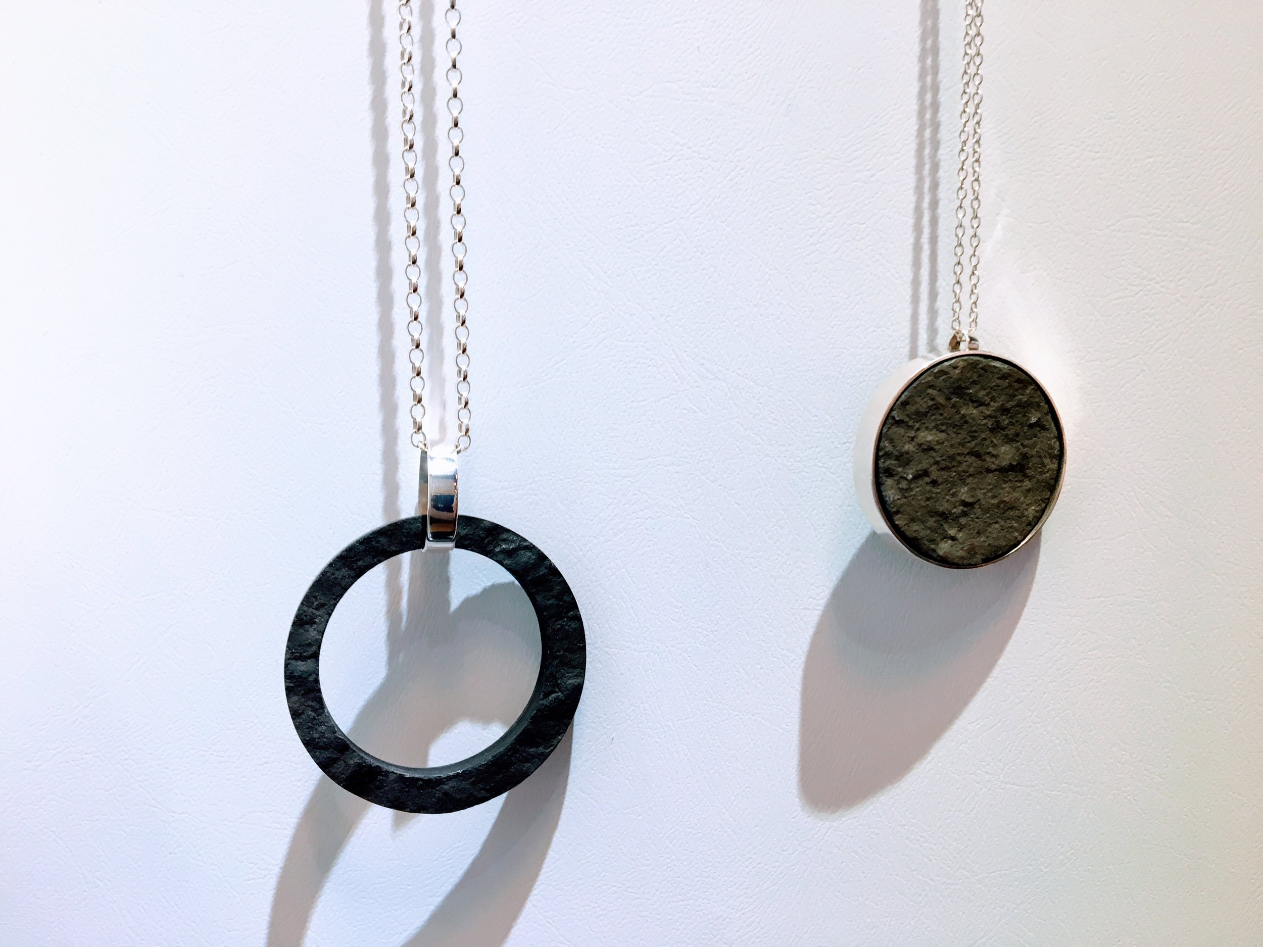 Jewellery made from Caithness stone by  Lindsey Gallagher