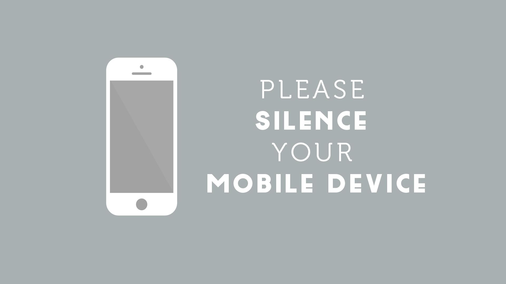 Silence Phone Slide