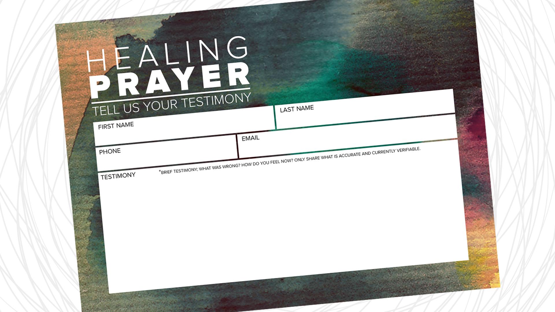 Testimony Card