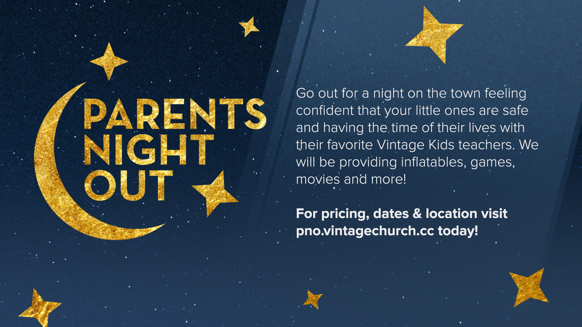Parents Night Out Slide