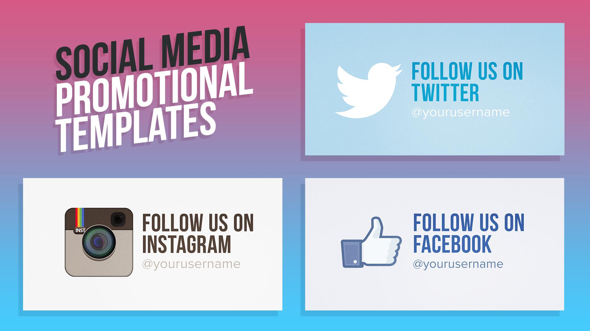 Social Media Promotional Templates