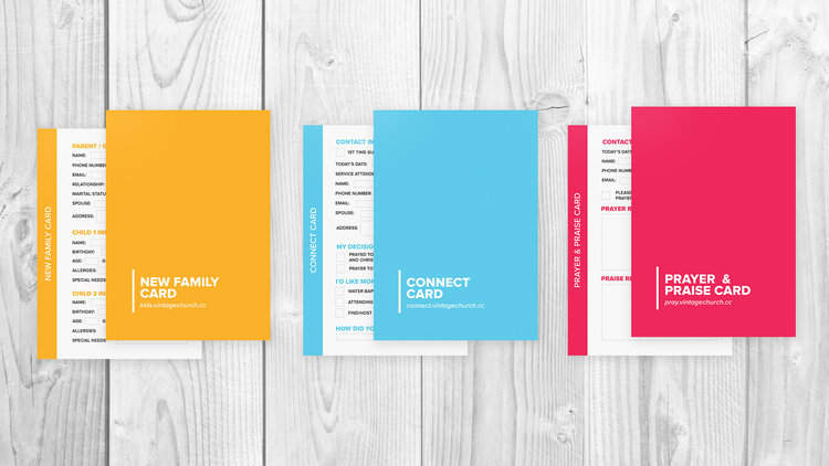 Connection & Registration Cards - Template