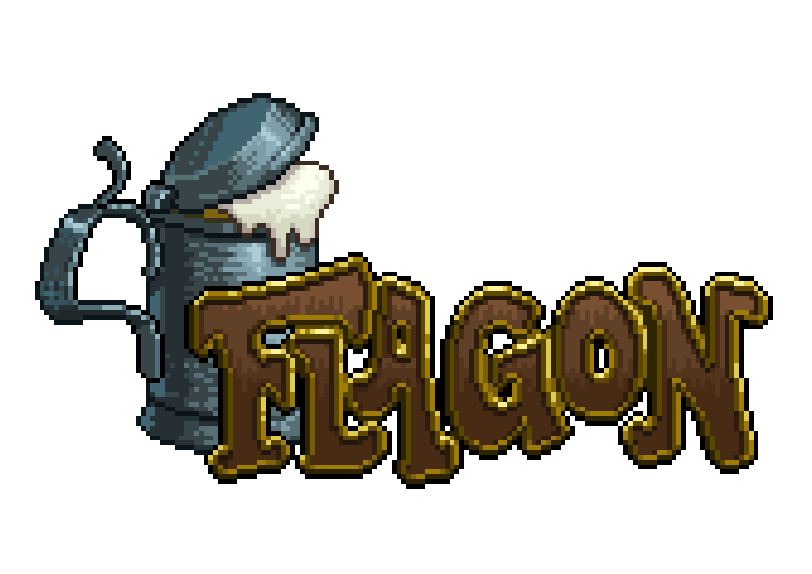 """Flagon"" webseries logo"