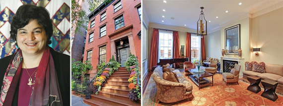 Andrea Soros Colombel and the West Village townhouse