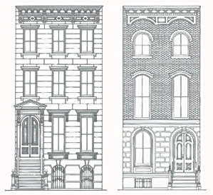 Left: The Italianate Style                    Right: The Anglo-Italianate Style