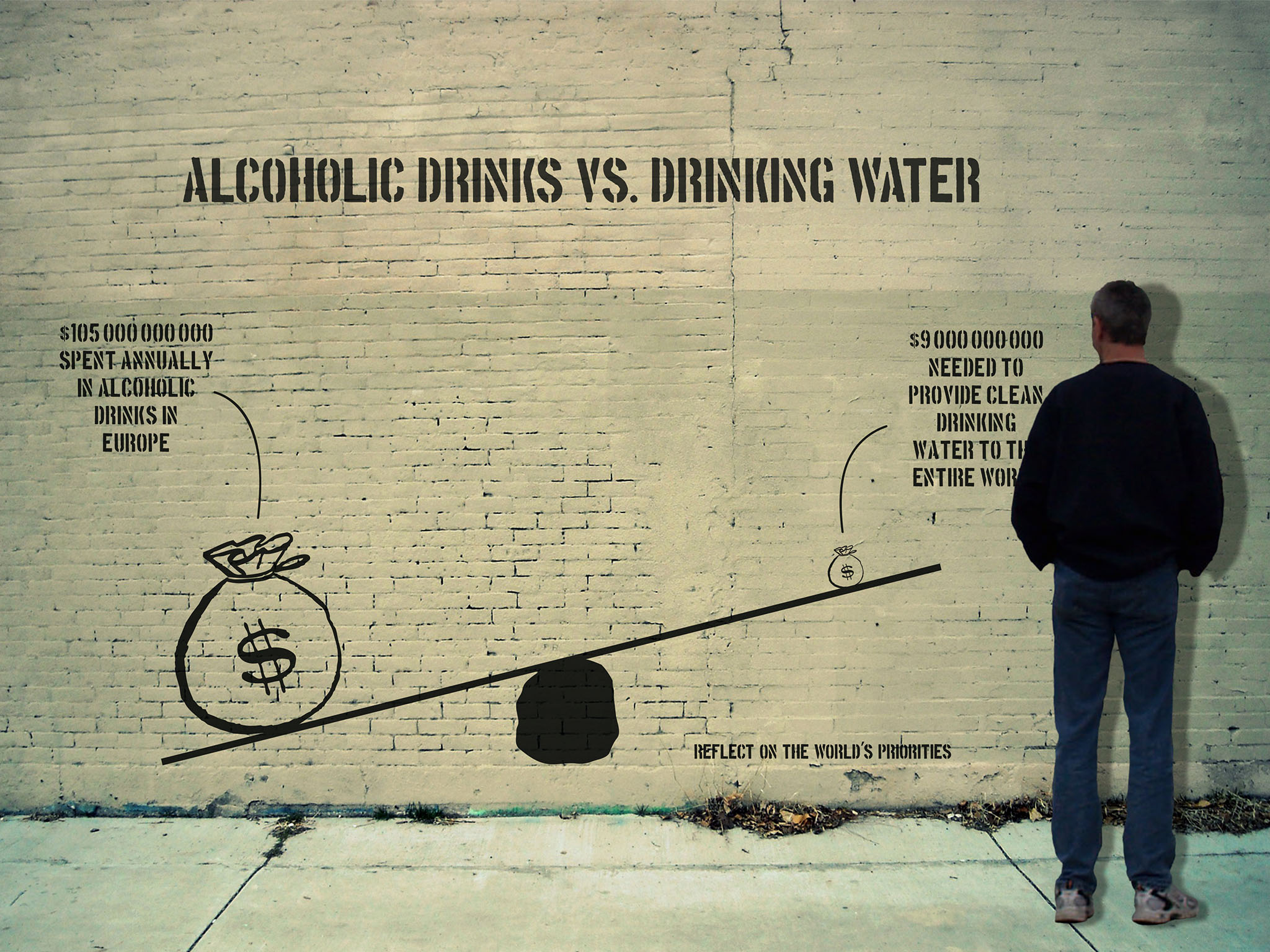Alcoholic Drinks vs. Drinking Water
