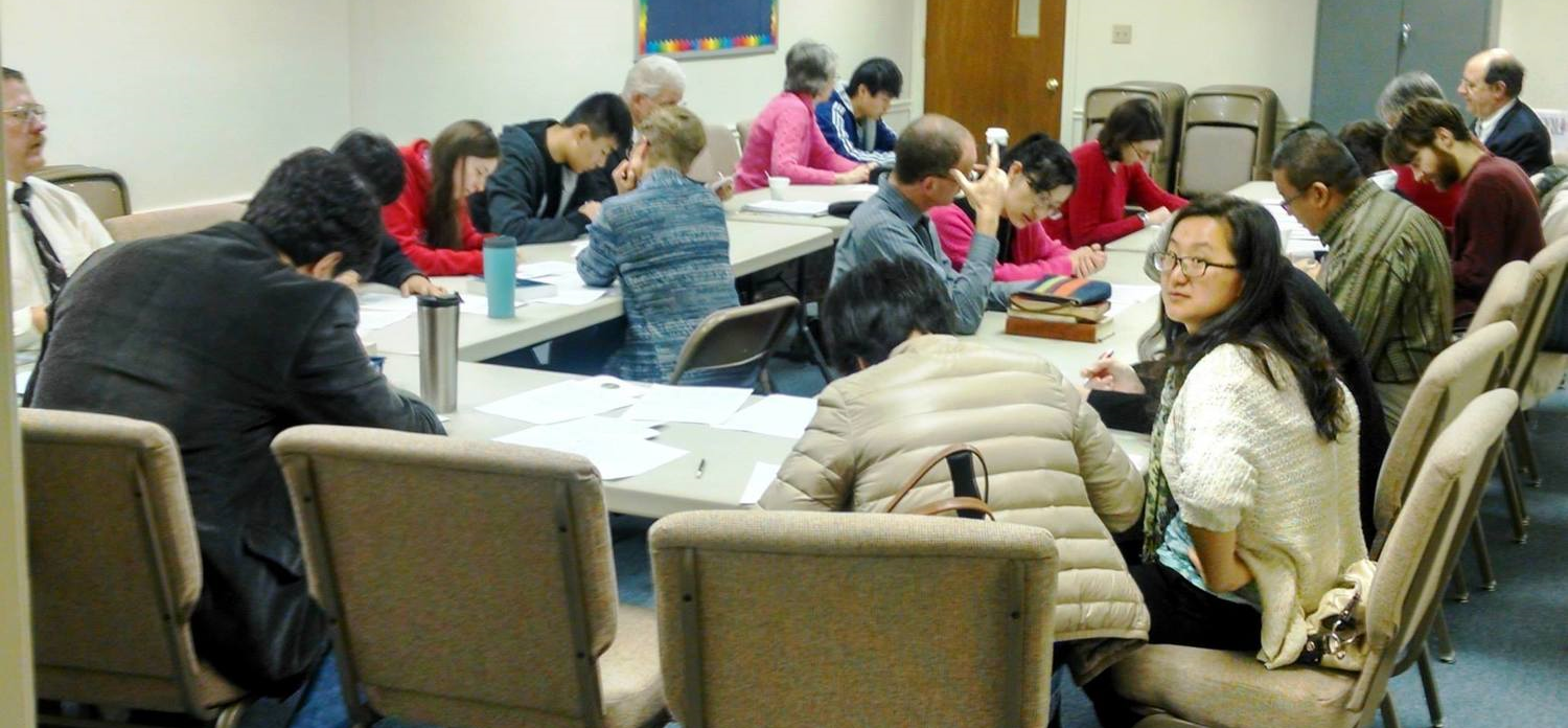 English classes are hosted weekly to foster conversation & comprehension skills. (See below.)