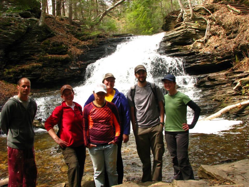 Hiking at Rickett's Glen
