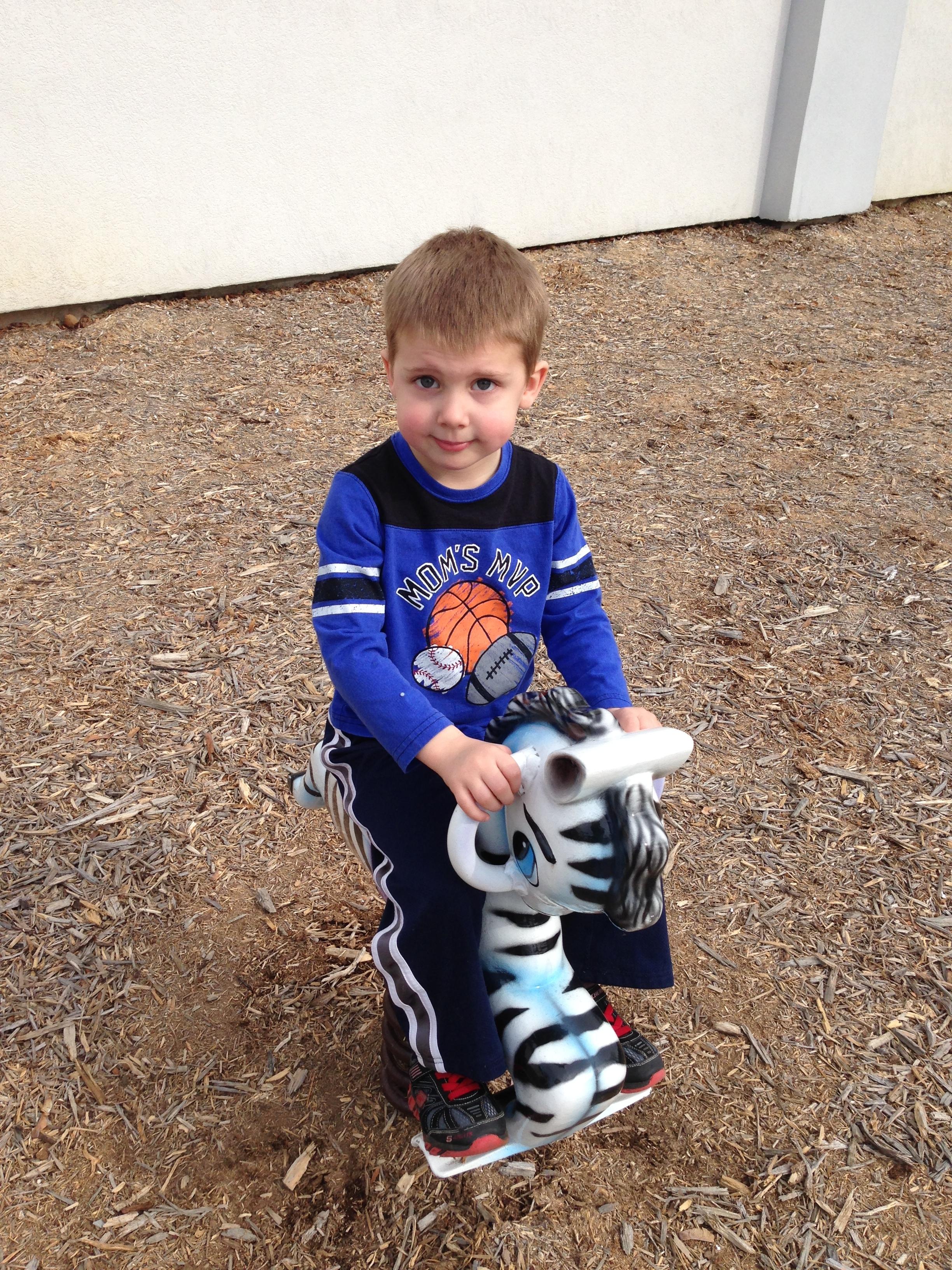 Luke at the playground