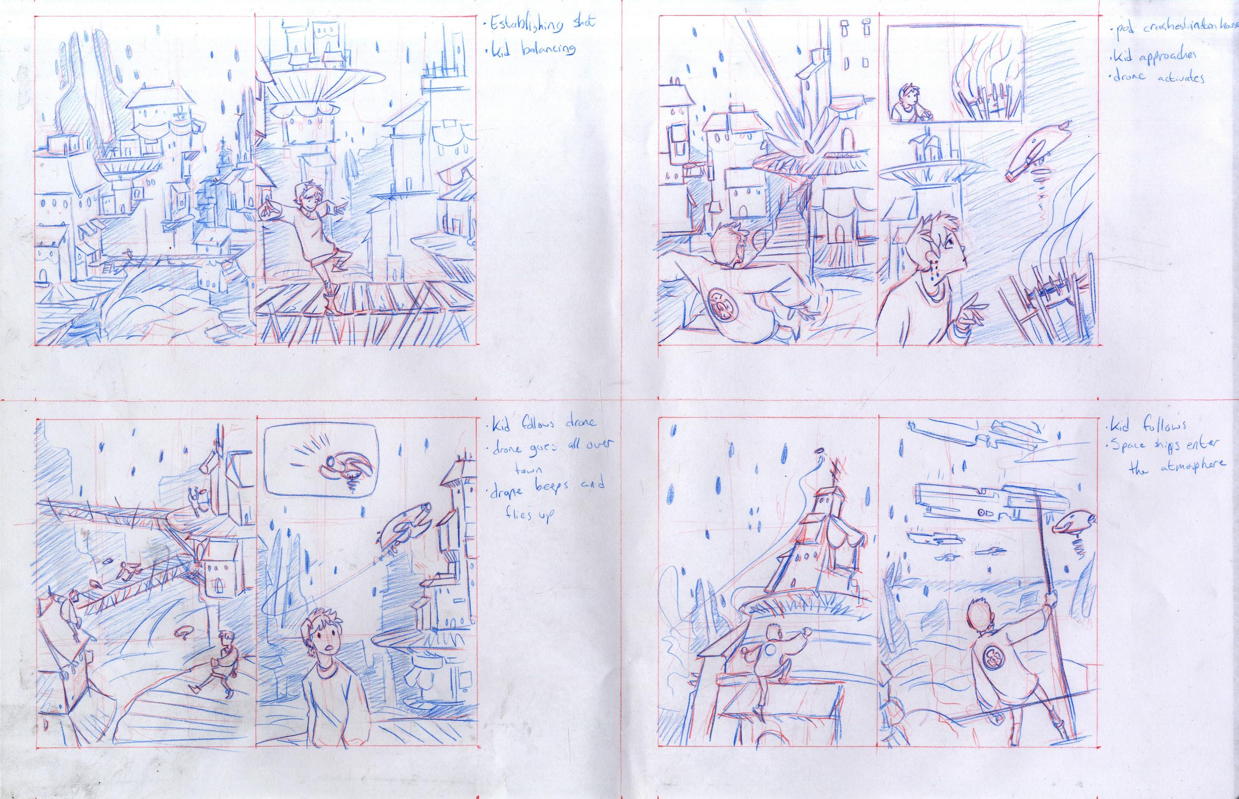 'End of an Era' story 2 storyboard - 2014 -School