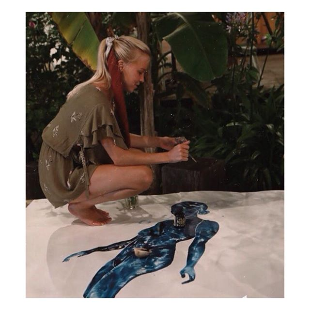 Live painting with @billabongwomens ✨picture by @fakander