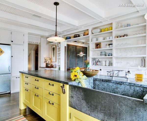 natural stone kitchen sink