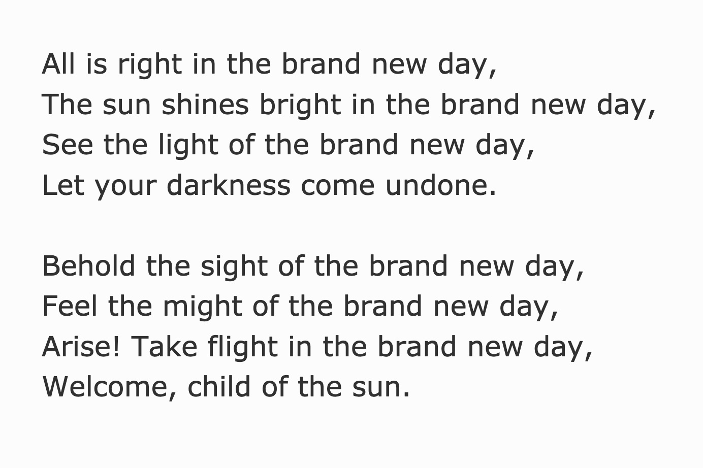 """Excerpt from the Poem """"Born Again / Phoenix Rising"""" written by Megan Smith in 2012."""
