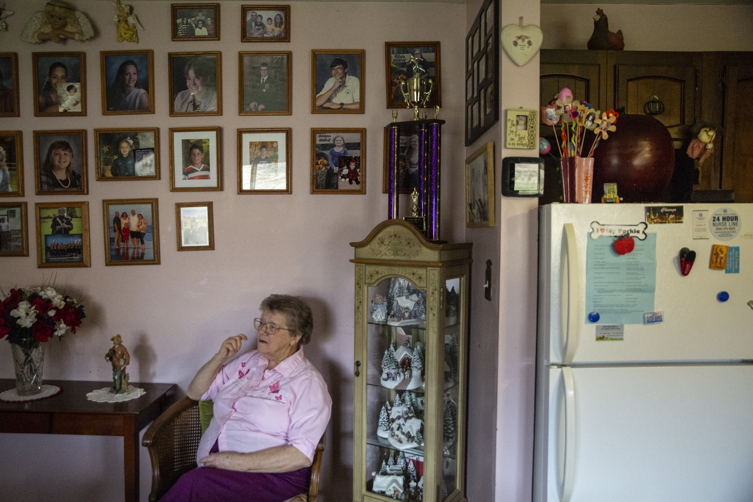 At 80, Donna Russell is one of Sharpsburg's oldest residents. Proximity to family is important to Donna, who lives on the same property as multiple family members, each with their own subdivision.