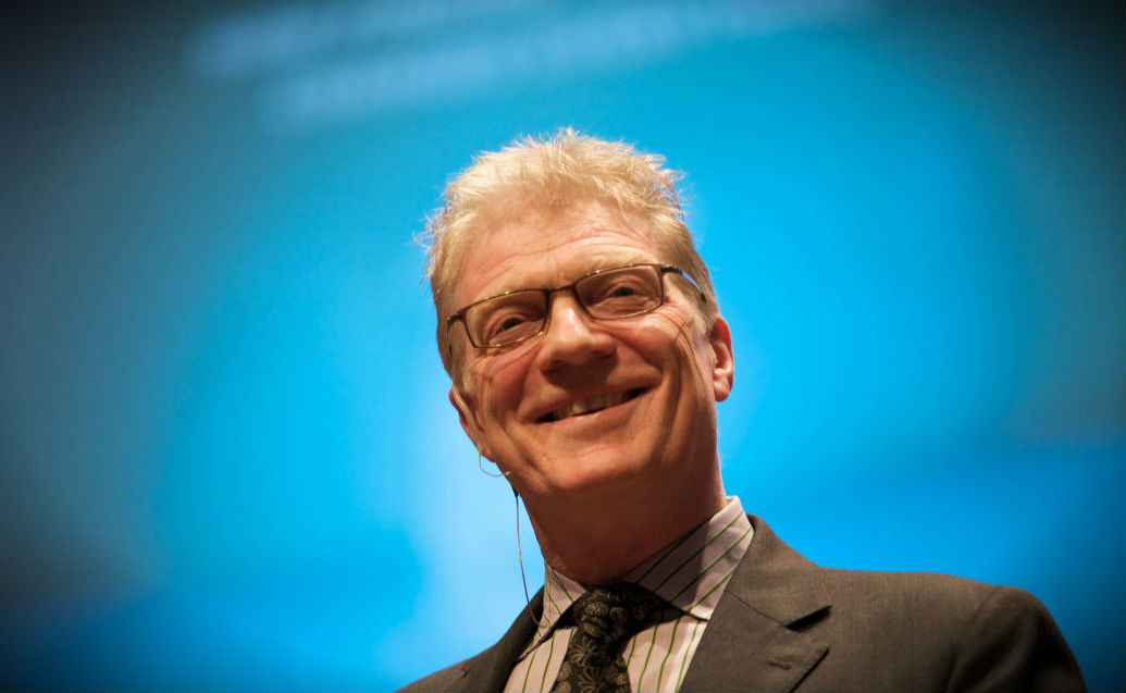 Image of  Sir Ken Robinson from  Wikipedia