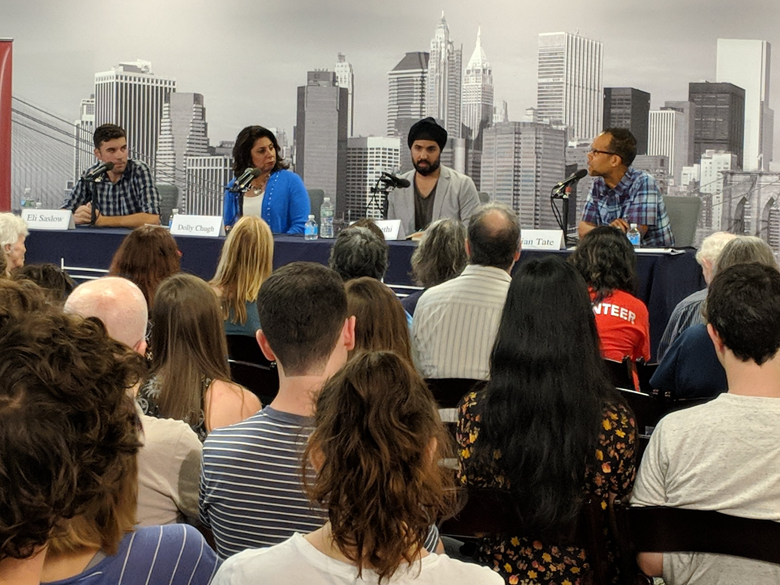 Arjun Sethi at the Brooklyn Book Festival's panel on Hate.