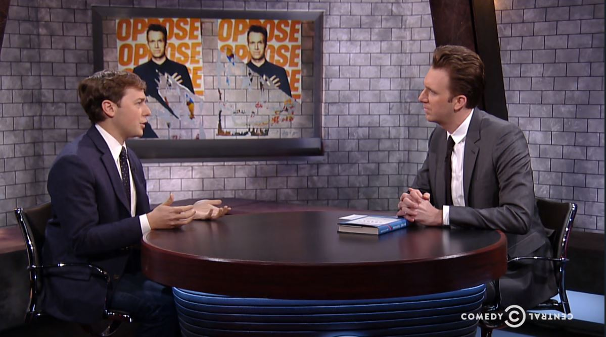 late-night on Comedy Central: The Opposition Show with jordan Klepper