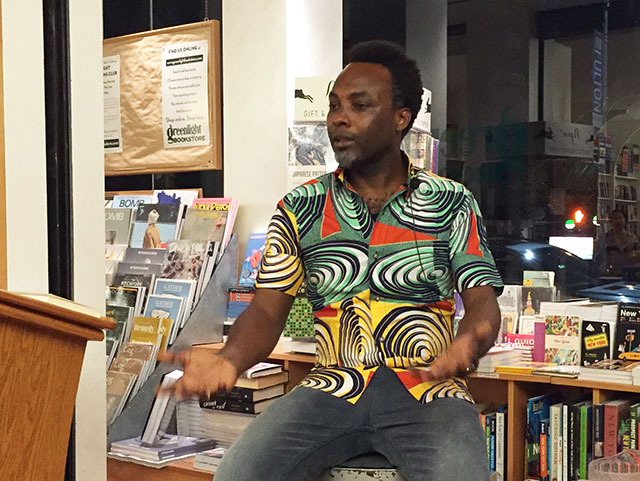 We set up  Barrett's US book tour, which included stops at the San Francisco and brooklyn Public Libraries. Here he is speaking at greenlight bookstore  in nyc