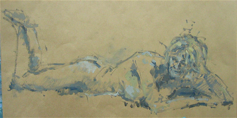 Oil on paper: 12 x 23in