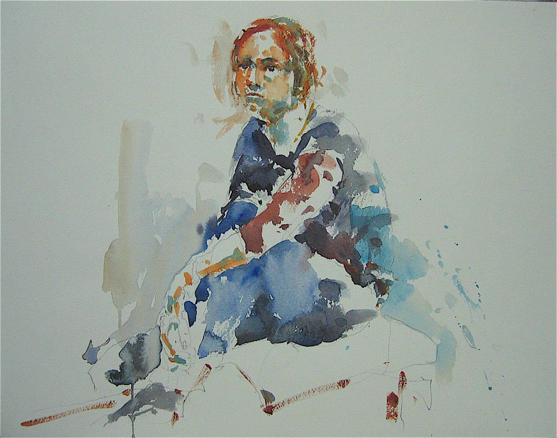 Watercolour: 11 x 15in