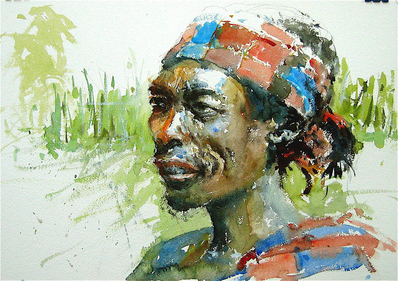 Watercolour: 15 x 22in