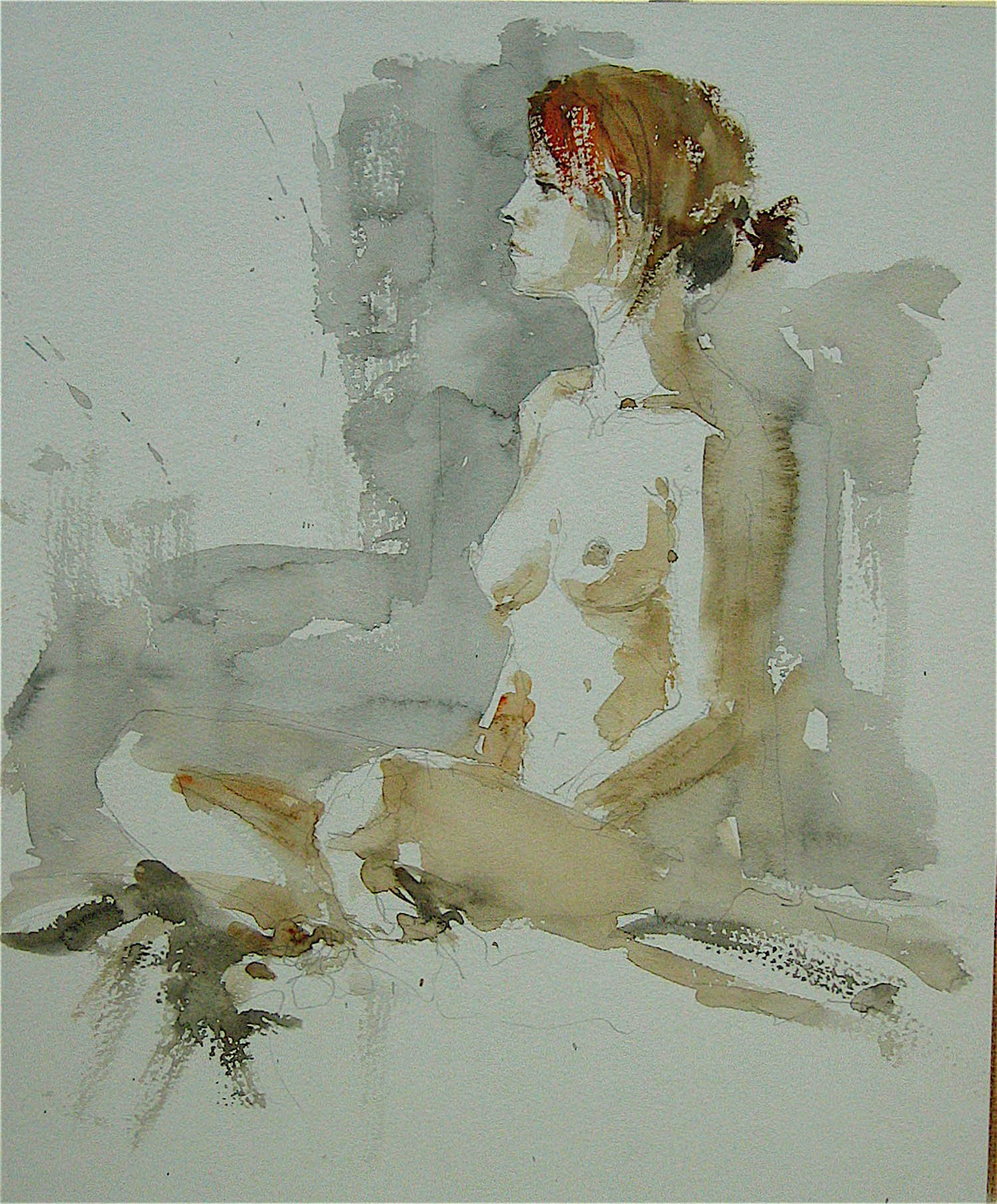 Watercolour: 15 x 11in