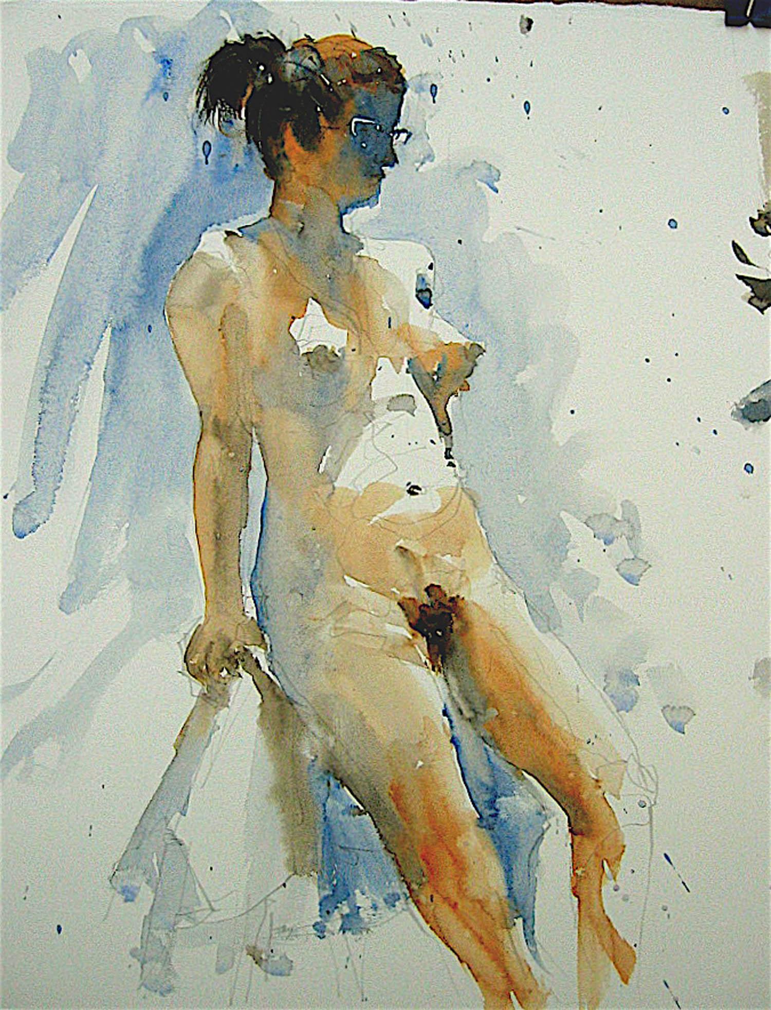 Watercolour: 21 x 15in