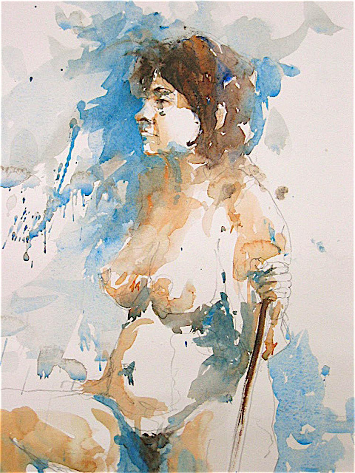 Watercolour: 22 x 15in
