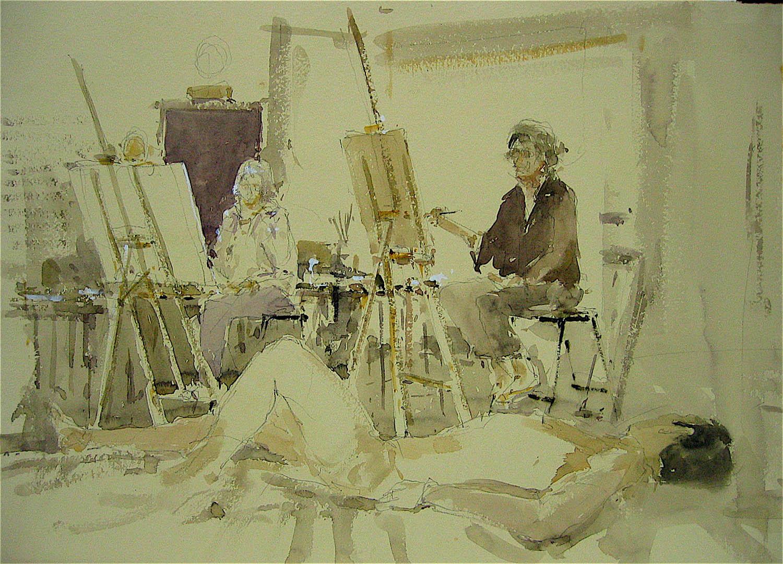 Watercolour: 15 x 21in