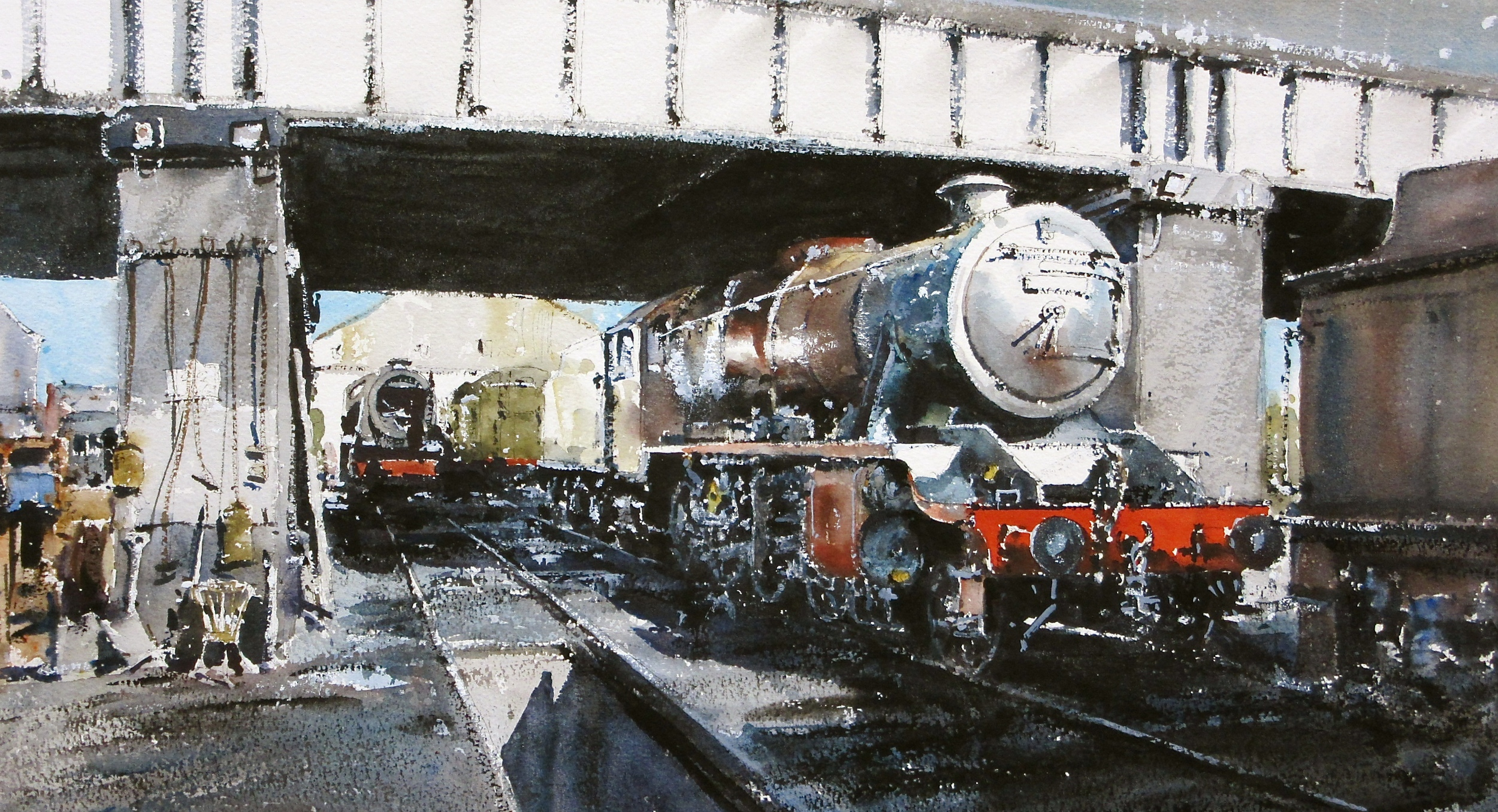 Loughborough Shed: 13 x 24 in: watercolour: £1150