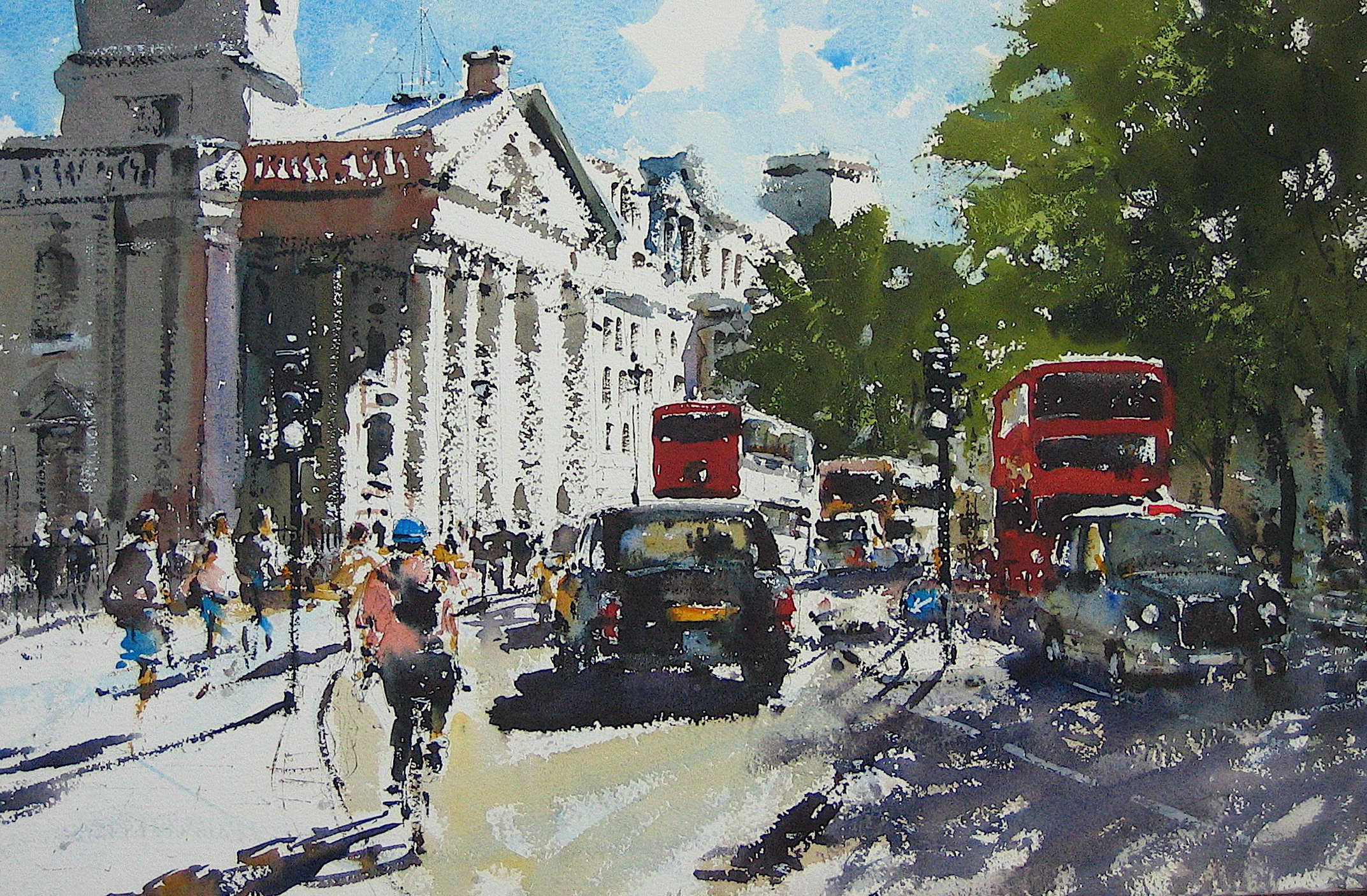 St. Martin's London: 13.5 x 19 in: SOLD