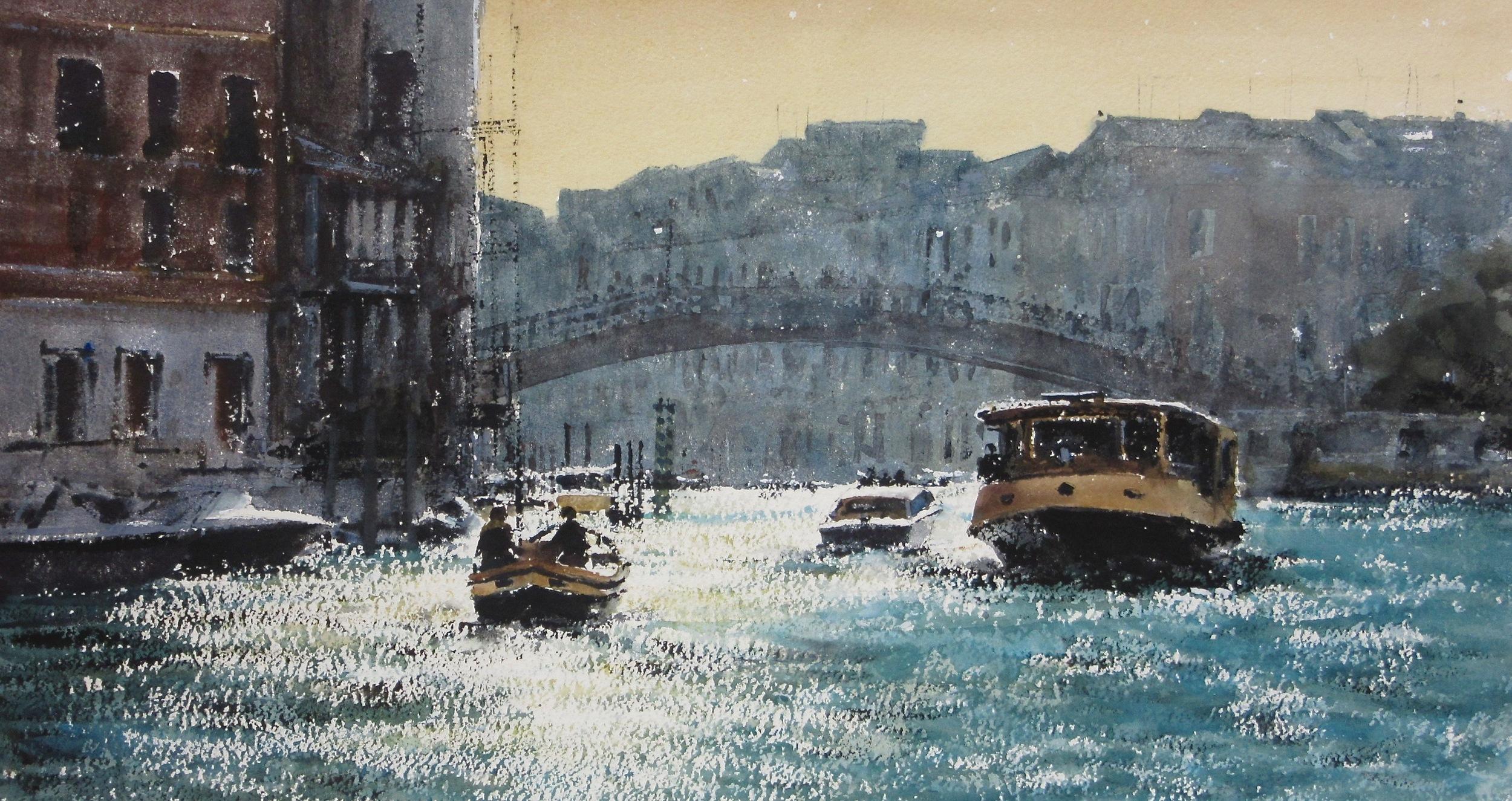 Towards the Academia Bridge Venice: 13 x 24 in: SOLD