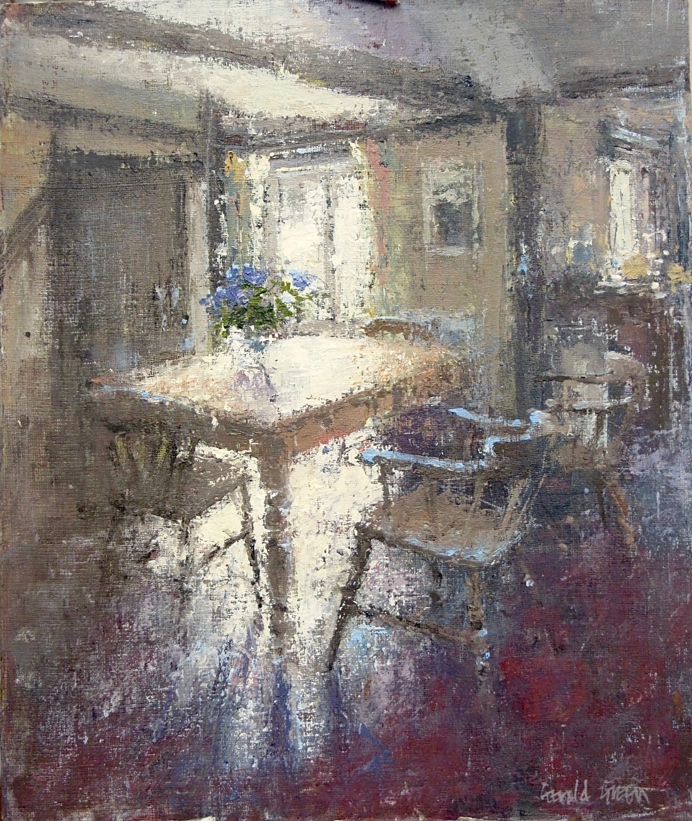 Sunlight in the Kitchen: 14.25 x 12 in: £950   (currently at Thompsons Gallery Aldeburgh)