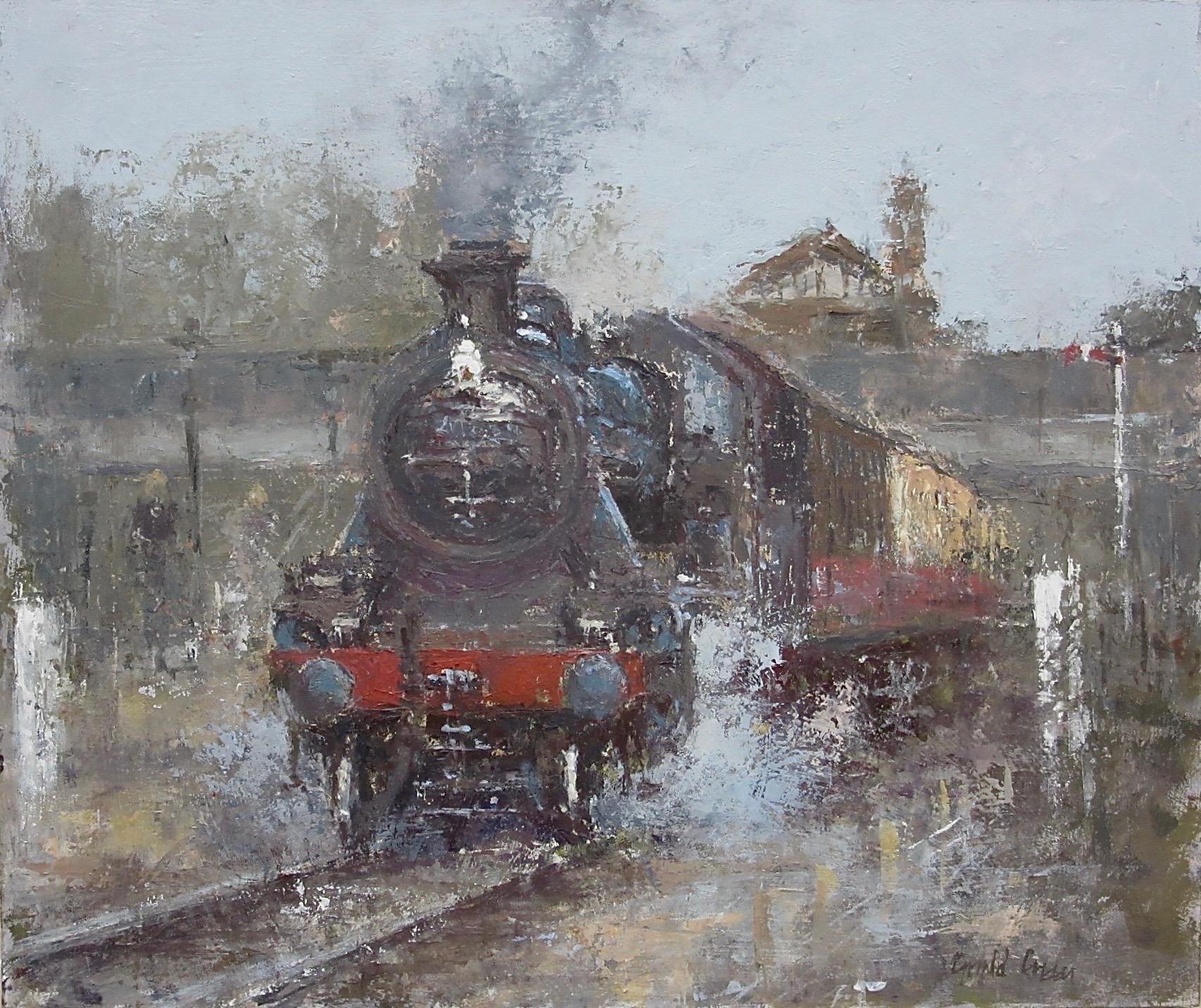 Ready to Leave: 12 x 14.25 in: oil: £950
