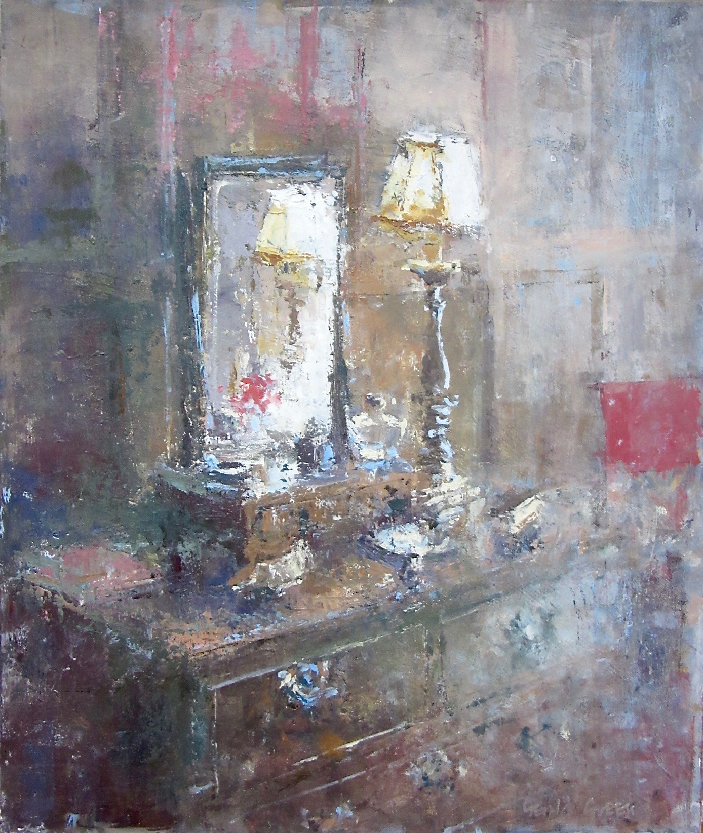 Dressing Table Reflections: 14.25 x 12 in: SOLD