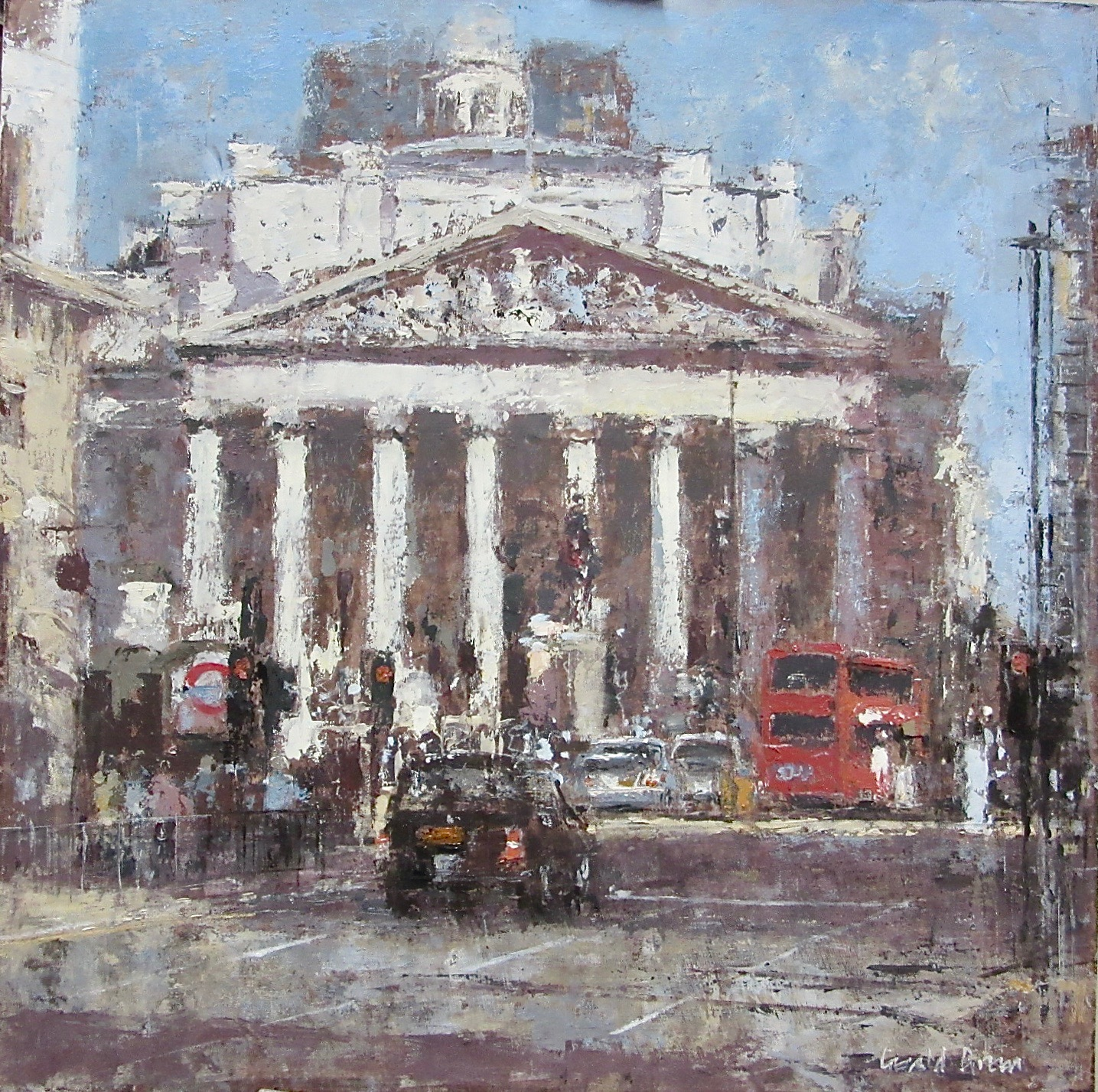 Towards the Royal Exchange London: 16 x 16 in: £1285  (currently at The Wykeham Gallery Stockbridge)