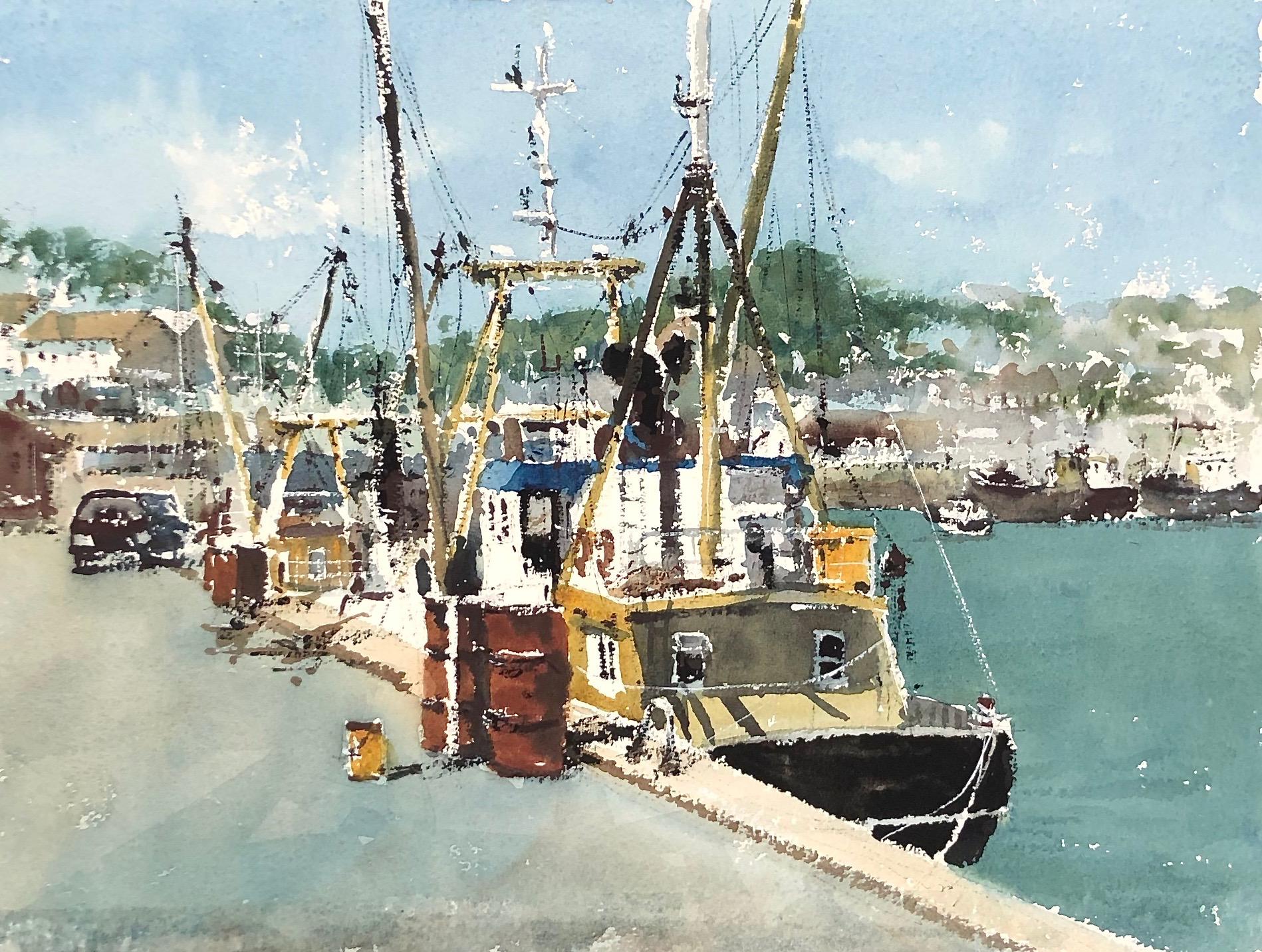Quayside Newlyn: 11 x 15.5 in: £750